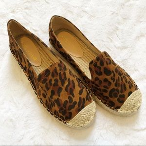 Chase + Chloe Leopard Espadrille Slides Size 7